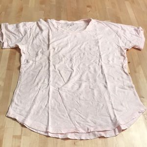 Madewell baby pink t shirt